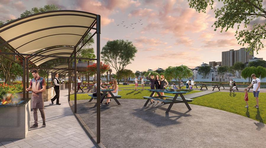 Vườn nướng dự án vinhomes ocean park